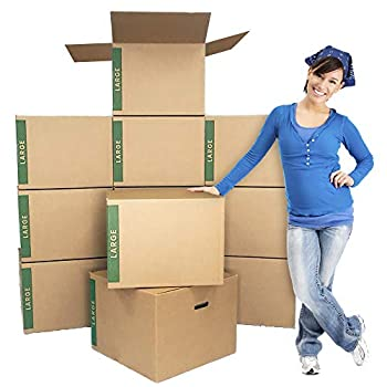 Large Moving Boxes Pack of 12 with Handles– 20  x20  x15  – Cheap Cheap Moving Boxes