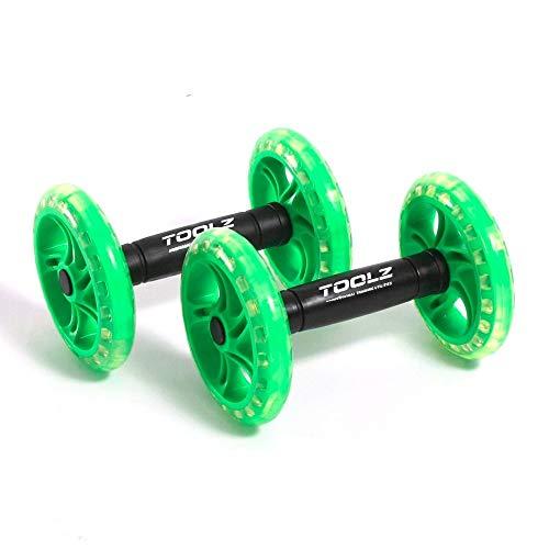 TOOLZ Exercise Wheel - Dual - Rodillo de Abdominales para Fortalecer la Parte Superior del Cuerpo - Rodillo de Abdominales con Agarre Antideslizante