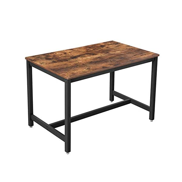 VASAGLE ALINRU Dining Table for 4 People, Kitchen Table, 47.2 x 29.5 x 29.5 Inches,...