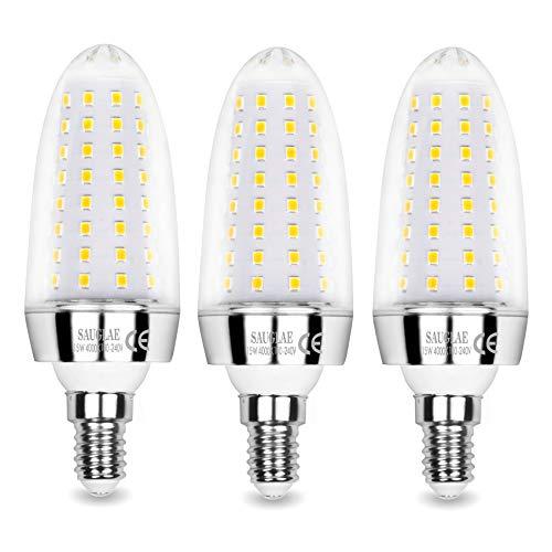 Sauglae 15W LED Lampen, 120W Glühlampen Äquivalent, 4000K Neutralweiß, 1500Lm, E14 Kleine Edison Schraube LED Leuchtmittel, 3 Stück