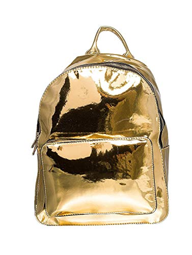 Urban Classics Midi Metallic Backpack Rucksack, 28 cm, 8 L, Gold