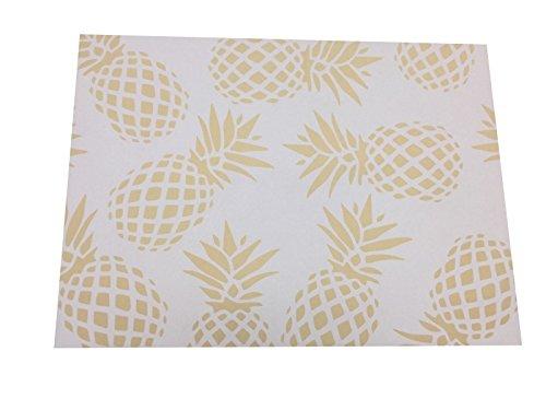 Mantel individual de papel 30x40 cm efecto ventosa Pina Oro 20 und