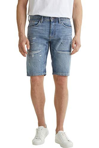 edc by ESPRIT Herren 040CC2C306 Jeans-Shorts, 903/BLUE Light WASH, 32