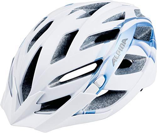 ALPINA PANOMA L.E. Fahrradhelm, Unisex– Erwachsene, white-blue metallic, 52-57
