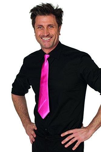 Jannes 53500 Krawatte mit Gummiband aus Satin Ansteck-Krawatte Schlips Kragen Einheitsgröße Neon-Pink