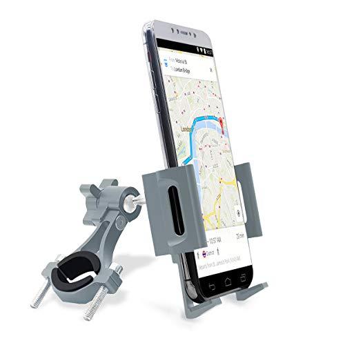 jiankun Soporte para teléfono para Bicicleta y Motocicleta, Soporte Universal para teléfono para Bicicleta con aleación de Aluminio con rotación de 360 ° para la mayoría de teléfonos(A-Titanio)