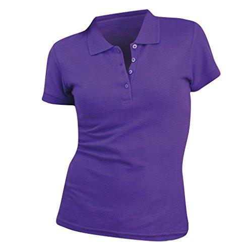 SOLS- Polo de Manga Corta de algodón piqué para Mujer (XL) (Púrpura Oscuro)