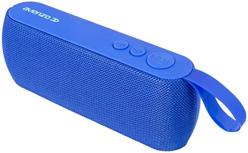 Avenzo - Altavoz Bluetooth, Modelo AV-SP3102L, Potencia de 3 W, Micrófono Incluido, Función Manos Libres, Con Radio FM, Altavoz Inalámbrico, Color Azul