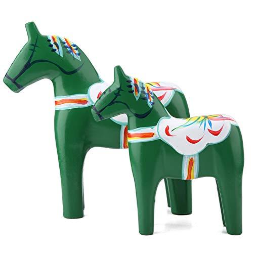 ?Mors dag försäljning?Häststaty, målad häststatyett trä hästfigur målad hästfigur, statyett hand Sverige Dala häst för skrivbordsvänner kontor gåvor