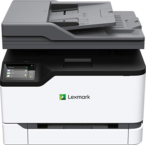 Lexmark MC3224i 3-in-1 Farblaser-Multifunktionsgerät (Drucker, Kopierer, Scanner, WLAN, Netwerkanschluß, bis zu 22 S./Min, autom. beidseitiger Druck, 7,2 cm-Touchscreen)