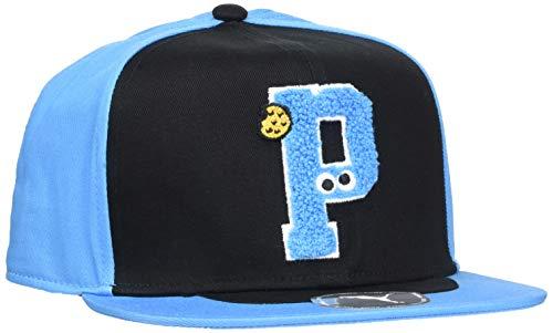 PUMA 22337 Cappello, Unisex Bambini, Black/Bleu Azur, Taglia Unica