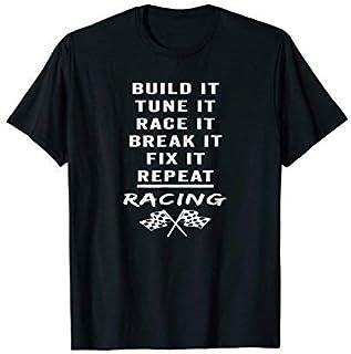 Build It Tune It Race It Break It Fix It Repeat T-Shirt [並行輸入品]