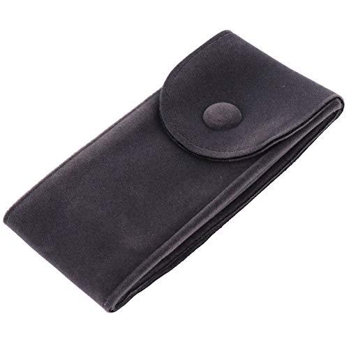Hemobllo - Bolsa de terciopelo para reloj de pulsera, bolsa de viaje, bolsa para reloj, organizador portátil (gris oscuro)