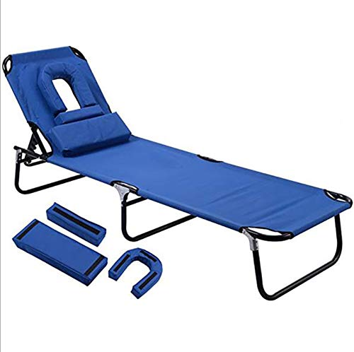 Bias&Belief Recliner Sun Lounger Collapsible Beach Chair Outdoor Balcony Patio Villa Swimming Pool Recreational Bed