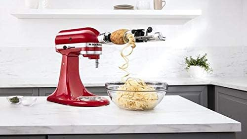 Spiralizer Attachment 5 Blades for KitchenAid Stand Mixers include of Peel Core and Slice Vegetable product image