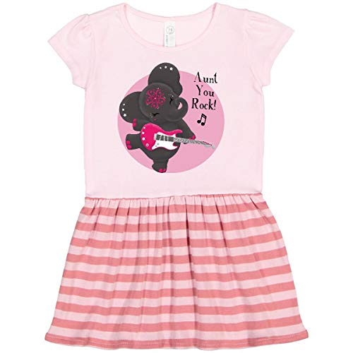 inktastic Harmony Aunt Toddler Dress 5-6 Pink with Stripes - Tiny Tusks 2d32c