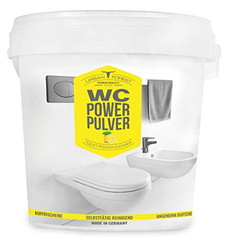 WC Reiniger zur Reinigung von WC & Bidet | Toiletten-Reiniger für WC-Hygiene & WC-Frische | Haushaltsreiniger zur Toiletten-Reinigung | Toiletten reinigen mit WC POWER PULVER von URBAN FOREST (1kg)