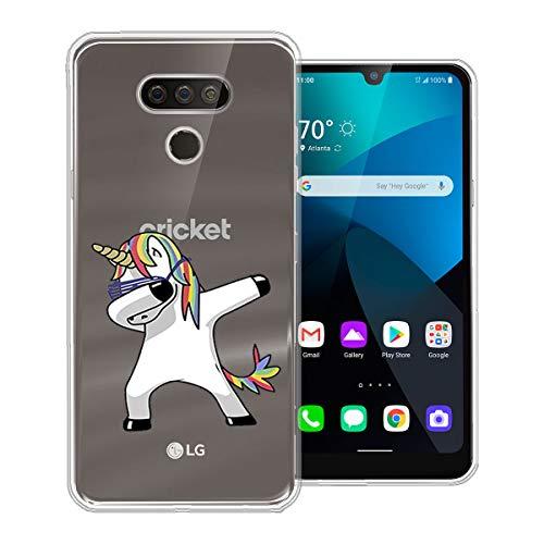 WLSM Crystal Clear Kompatibel mit LG Harmony 4 Hülle, Transparent TPU Silikon Handyhülle Durchsichtige Schutzhülle Case, Cover für LG Harmony 4 (6.1