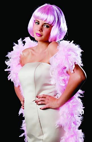 52605 Sinister - Bufanda de plumas, unos 180 cm, color: rosa