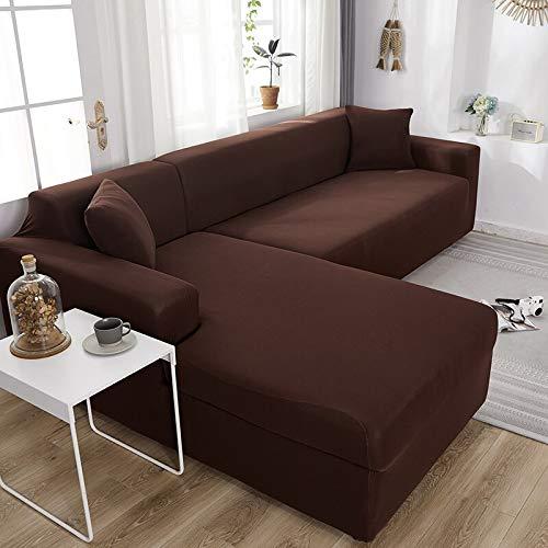 WXQY Sala de Estar Funda de sofá ordinaria Funda de sofá de Spandex elástica Funda de sofá de Esquina en Forma de L elástica Funda de sofá Envuelta herméticamente A8 2 plazas