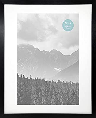 42x29.7 Modern Oxford Black Photo Picture Frame With Glass by Photo Frames And Art 2 u A3