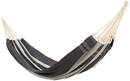AMAZONAS XXL Comfort hangmat Paradiso Silver handgemaakt in Brazilië 250cm x 175cm tot 200kg in grijs-wit-gestreept