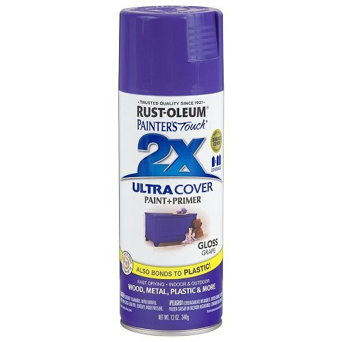 Rust-Oleum 249113 Painter's Touch 2X Ultra Cover, 12 Oz, Gloss Grape