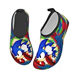 COCOCHILLA Sonic The Hedgehog Water Shoes for Kids Girls Boys,Toddler Kids Outdoor Quick Dry Non-Slip Water Skin Barefoot Sports Beach Swim surf Aquatic Shoes Socks for Childrens 32/33
