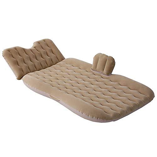 Guoziya Air Matelas Gonflable Voiture Lit Coussin De Camping en Plein Air Matelas Voyage Matelas Gonflable SUV Universel Gratuit Pliant Sleeping Bed Air (Couleur : Beige)
