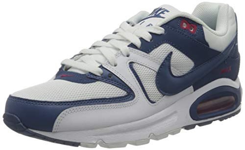 Nike Air MAX Command, Sneaker Mens, White/Mystic Navy-Cardinal Red, 45 EU