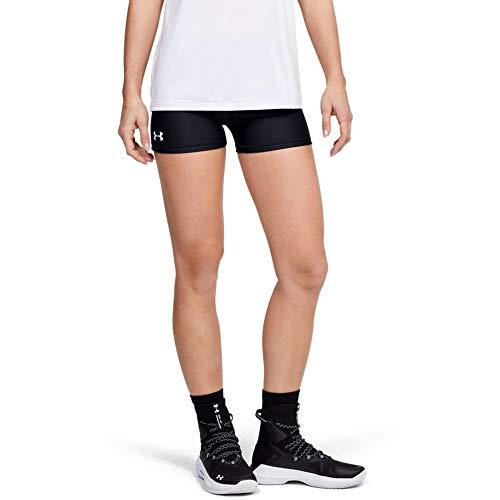 """Under Armour 7,6 cm Volleyball-Shorts, Damen, Shorts, 3"""" Volleyball Short, Schwarz (001)/Weiß, Small"""