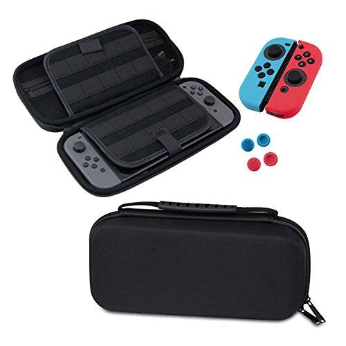 Redlemon Funda para Nintendo Switch 4 en 1: Estuche Resistente, Mica Pantalla de Cristal Templado, Fundas…