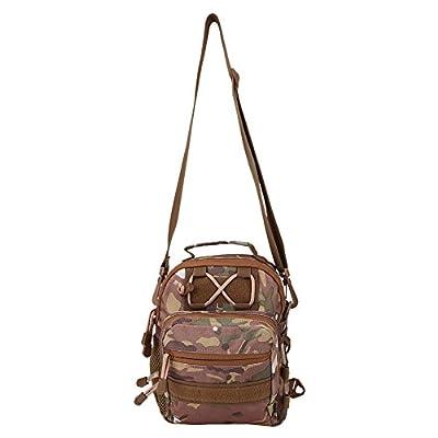 VGEBY Fly Fishing Bag, Outdoor Multifunction Portable Canvas Fishing Tackle Storage Bag Handbag Crossbody Messenger Sling Bag from VGEBY