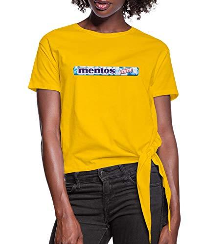 Mentos Rolle Minze Knotenshirt, XL, Sonnengelb