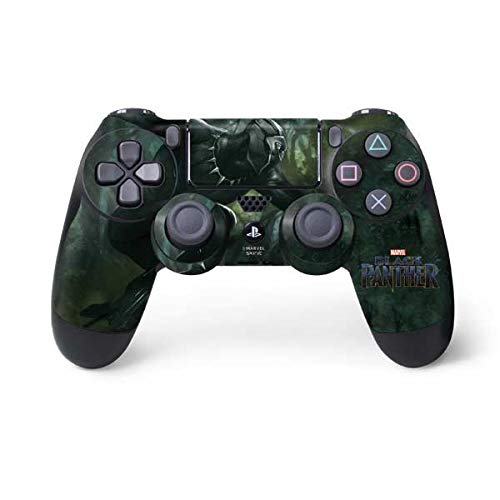 Skinit Decal Gaming Skin for PS4 Controller - Officially Licensed Marvel/Disney Black Panther in Action Design