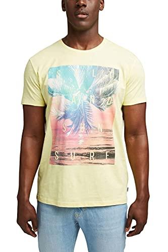 Esprit 061EE2K316 Camiseta, 746/amarillo Claro 2, L para Hombre