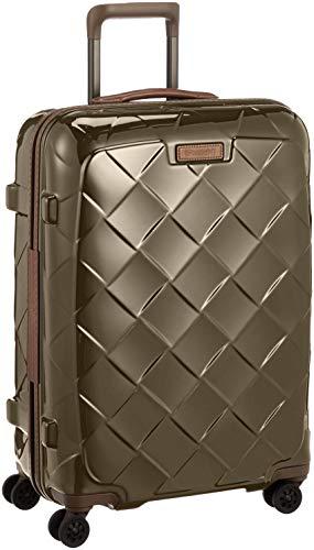 STRATIC Leather & More Hartschalen-Koffer Trolley Rollkoffer Reisekoffer 4 Rollen TSA-Zahlenschloss, Größe M, leicht und leise, Champagne Gold