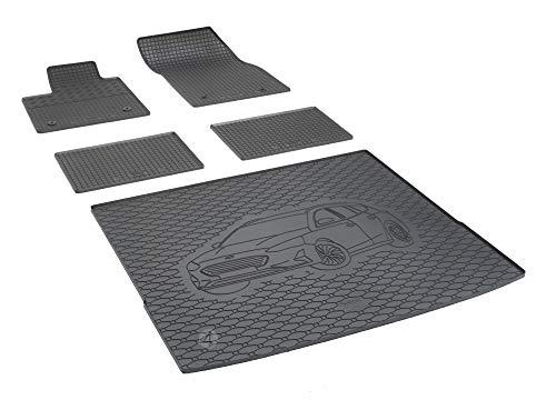 Passgenaue Kofferraumwanne und Gummifußmatten geeignet für Ford Focus ab 2018 Kombi + Autoschoner MONTEUR
