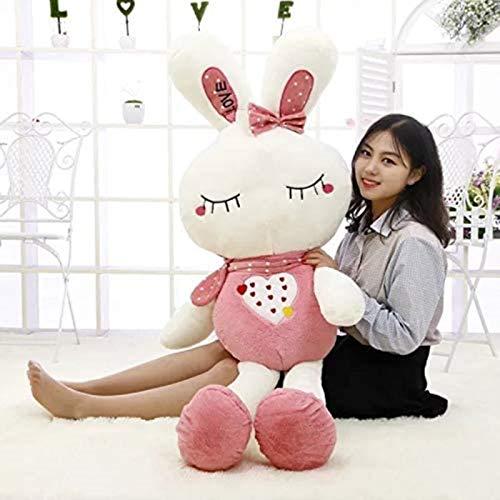 DINEGG Großes süßes Schlafen mit Plüschspielzeug Obst Bunny Liebe Kaninchen Puppe Reis Puppe Firma Aktivität Puppe 120cm (Farbe: grün1, Größe: 150 cm) YMMSTORY (Color : Pink2, Size : 75cm)