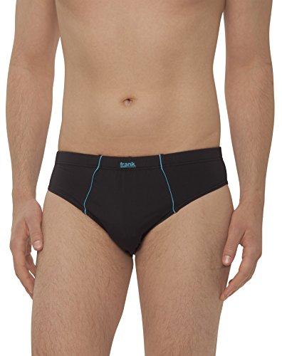 Frank Fields - Herren Slips aus Microfaser, Underwear Enge Unterwäsche mit Öko-Tex-Standard 100 (Unterhose Männer ohne Eingriff) - 4 Stück, Farbe:blau, Größe:XL