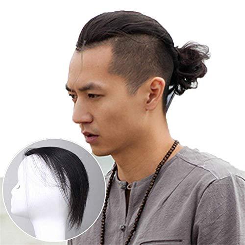 FCXBQ Pinza para el Cabello Humano Real en Extensiones de Cabello Peluquín Peinado hacia atrás Peluquines Tupé para Hombres, 12.6 '