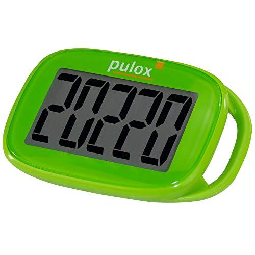 PULOX Schrittzähler Pedometer PS-100 einfach mit 3D Sensor in Grün