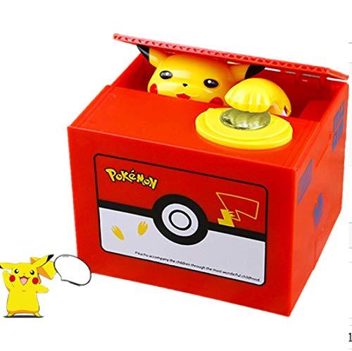 Zpong Pokemon Sparschwein Actionfigur Anime Elektronische Sparbüchse Stehlen Münze Sparschwein Geld Geld Safe Geburtstagsgeschenk Für Kinder