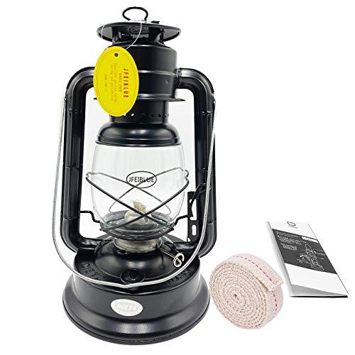 JFEIBLUE Kerosene Lamp Oil Lamp Kerosene Lamps Portable Lighting Lantern Outdoor Camp Hand Lantern Vintage Oil Lantern Lantern Lantern Kerosene 28 12 8cm (Black)