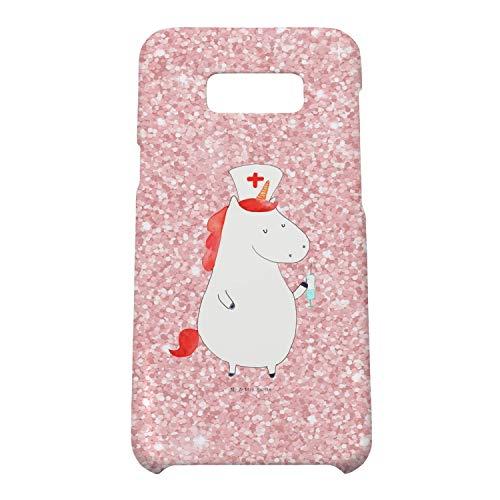 Mr. & Mrs. Panda Handycover, Samsung Galaxy S8, Samsung Galaxy S8 Plus Handyhülle Einhorn Krankenschwester - Farbe Gl
