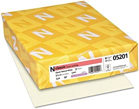 Neenah Paper Classic Linen Premium Paper, Natural White, 24#, 8-1/2 x 11, 500 per Ream