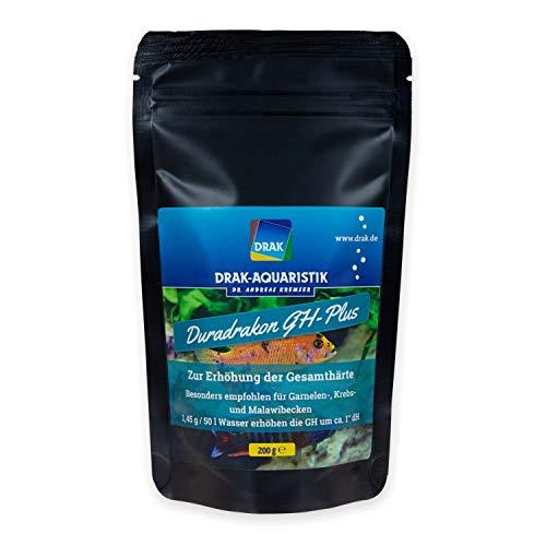 DRAK-Aquaristik Duradrakon GH-Plus Aufhärtesalz-Mischung Gebindeart Standbodenbeutel, Größe 200 g