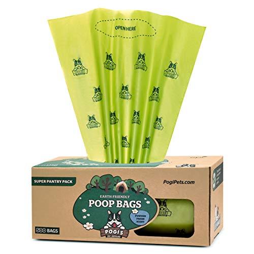 Pogi's Hundekotbeutel - 500 Tüten für Vorräte und öffentliche Hundeklos - große, biologisch abbaubare, parfümierte, tropfsichere Hundetüten (einzelne große Rolle)