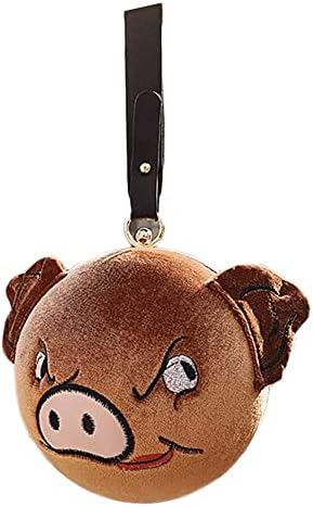 Pig Shape Handbag Crossbody Wily/Dumb Pig Evening Bags Clutch Bag Purse Round Ball