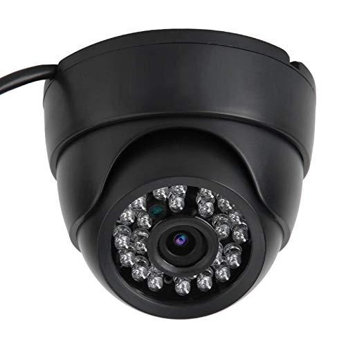 Cámara hemisférica de seguridad HD negra 1280 * 720, reducción de ruido 3D monitorización remota por computadora de teléfono tableta para bebés niños niñera